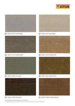 Terrassebeis fargekart